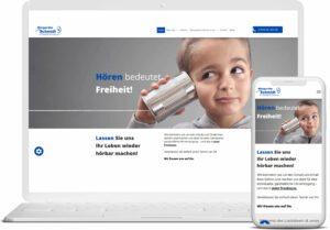 Webseite Hörgeräte Schmidt